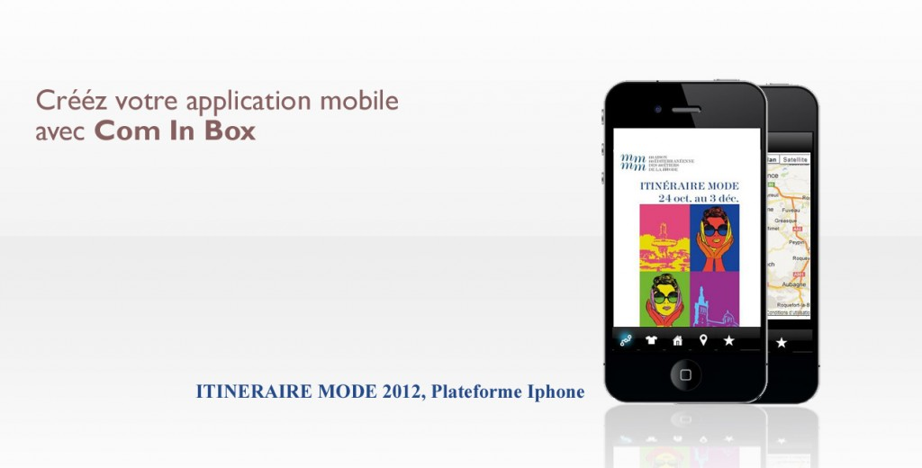 application mobile - Com'On Sense -itineraire mode - m-mmm
