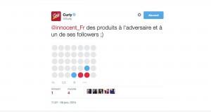 Puissance4 sur Twitter entre Innocent et Curly   Com'On Sense