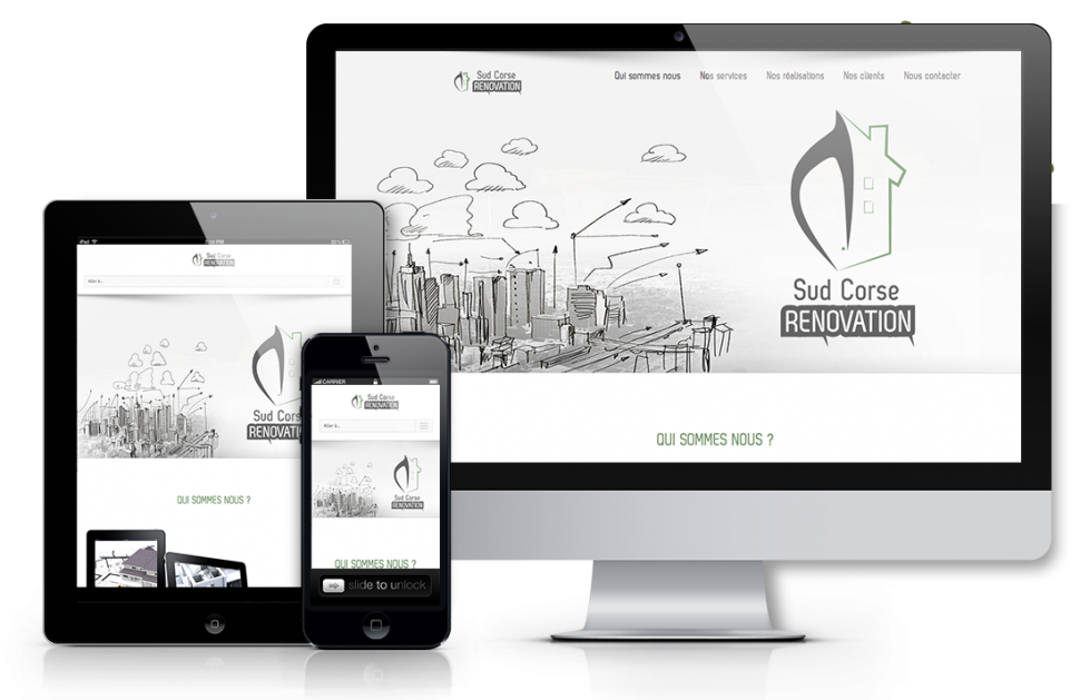 Creation site web sud corse renovation | Agence web marseille gap bordeaux