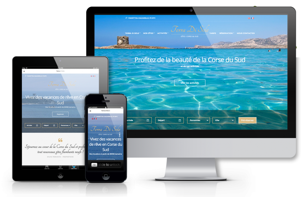 Creation site web responsive Terra di sole | Agence web marseille gap bordeaux