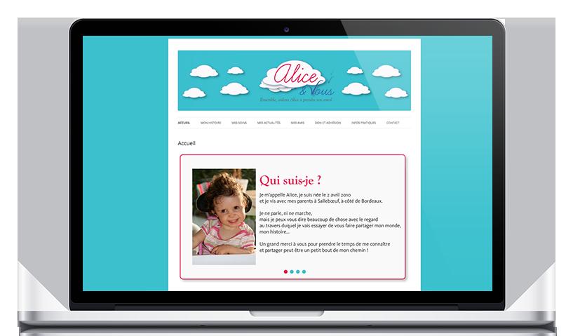 creation site web alice & vous bordeaux