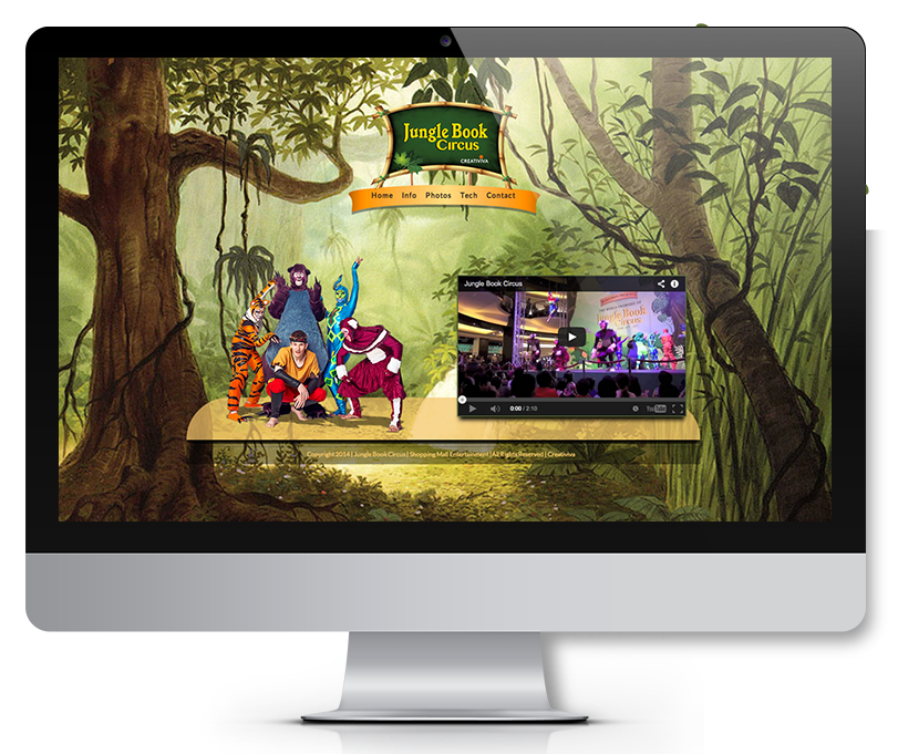 creation site web jungle book circus canada