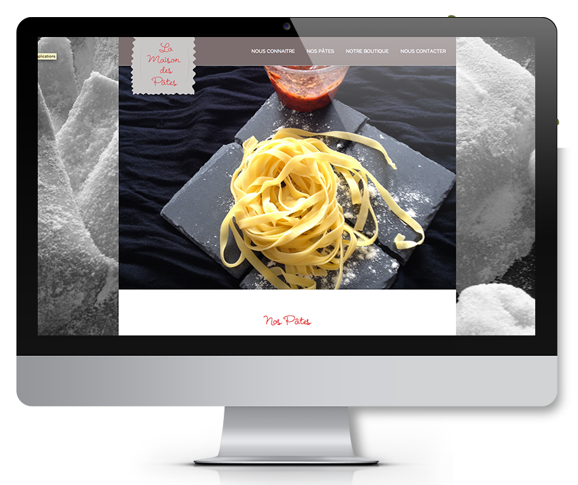 creation site web la maison des pates marseille